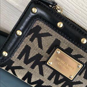 Michael Kors Bags - Michael Kors studded logo black wallet leather MK